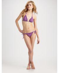 Nanette Lepore | Purple Cabana Stripe Vamp Bikini Bottom | Lyst