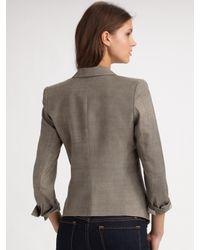 Smythe - Gray Sharp Shoulder Blazer - Lyst