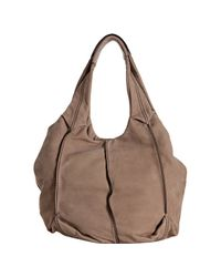 Tod's - Natural Beige Brushed Leather Baloon Media Shoulder Bag - Lyst