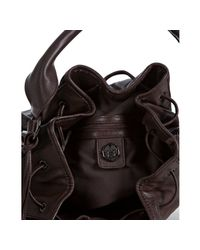 Vince Camuto - Dark Brown Leather Vc Bolts Bucket Bag - Lyst