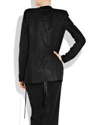 Acne | Animal Cobra Snake Brushed-leather Coat | Lyst