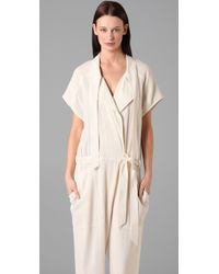 Alexander Wang | White Jumpsuit with Extended Lapel | Lyst