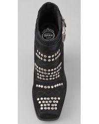 Jeffrey Campbell - Black Maxim Studded Booties - Lyst