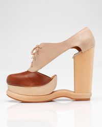Jeffrey Campbell - Brown Benched Cut Out Platform - Lyst