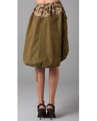 PRPS - Green Plant Trees Army Skirt - Lyst