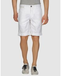 Incotex Red | Natural Bermuda Short for Men | Lyst