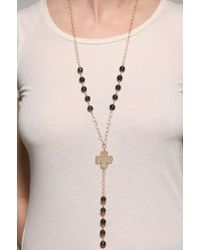 Jessica Elliot | Metallic Wrought Iron Clover Necklace | Lyst