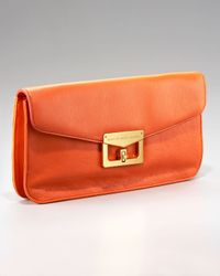 Marc Jacobs | Orange Bianca Envelope Clutch, Red Saffron | Lyst