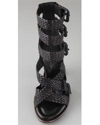 Alexander Wang - Black Petra Braid-strap Sandal - Lyst