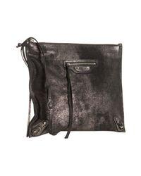 Balenciaga | Black Calfskin Milky Way Papier Post Messenger Bag | Lyst