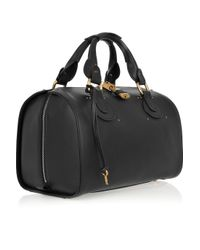 Chloé - Black Aurore Leather Duffle Bag - Lyst