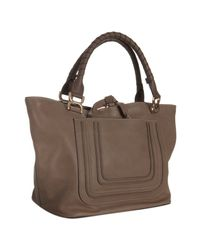 Chloé | Brown Nut Leather Marcie Top Handle Tote | Lyst