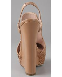 Chris Benz - Natural Alejandro Ingelmo For Woven Wedge Pumps - Lyst