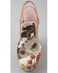 Chris Benz - Natural Alejandro Ingelmo For Floral Wedge Pumps - Lyst