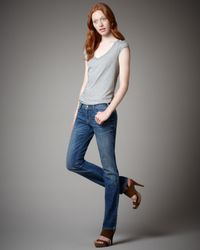 Current/Elliott | Blue Royal Vintage Straight-leg Jeans | Lyst