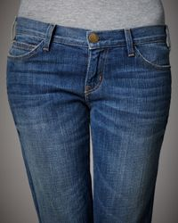 Current/Elliott - Blue Royal Vintage Straight-leg Jeans - Lyst