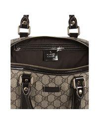 Gucci | Natural Beige Gg Plus Joy Patent Detail Boston Bag | Lyst