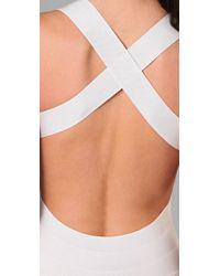 Hervé Léger - White Wrap Swimsuit - Lyst