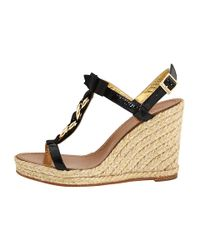 kate spade new york - Brook - Black Chain Detail Espadrille - Lyst