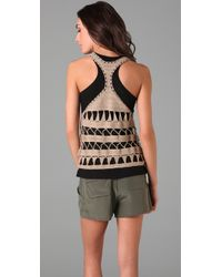 Mike Gonzalez | Black Sleeveless Knit Top | Lyst