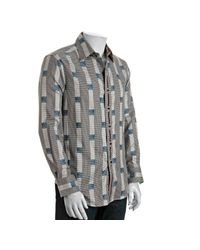 Robert Graham | Gray Black Houndstooth Check Hammersveld Shirt for Men | Lyst