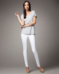 Sold Denim | White Spring Street Skinny Jeans | Lyst