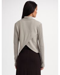 T By Alexander Wang | Gray Asymmetrical Ribbed Jacket | Lyst