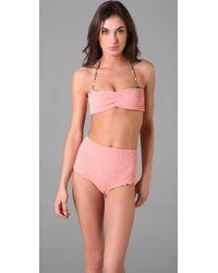 Tori Praver Swimwear | Pink Betty Bandeau Bikini Top | Lyst