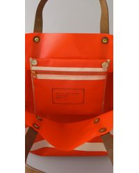 Marc By Marc Jacobs | Orange Enamel Disc Pvc Beach Bag | Lyst