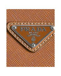 Prada - Yellow Ochre Saffiano Leather Travel Portfolio Case for Men - Lyst