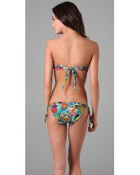 Rosa Cha - Green Floral Bikini Top - Lyst