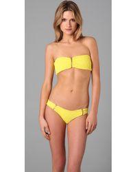 Tori Praver Swimwear - Yellow Ami Bikini Top - Lyst