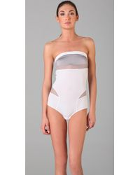 VPL | White Dissection Bodysuit | Lyst