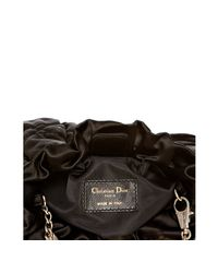 Dior | Black Cannage Quilted Satin Chain Link Crossbody Bag | Lyst