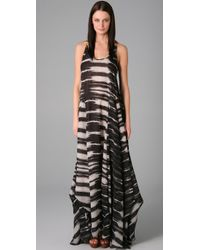 L.A.M.B. | Brown Print Long Dress | Lyst