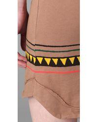 Monrow | Brown Rasta Stripe Dress | Lyst