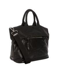 Prada - Black Lambskin and Nylon Reversible Folded Tote Bag - Lyst