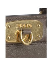 Prada - Brown Mud Deerskin Framed Satchel - Lyst