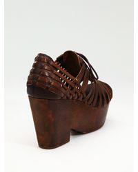 Rag & Bone | Brown Horos Woven Oxford Sandals | Lyst
