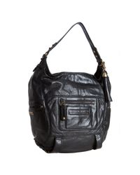 Rebecca Minkoff | Black Glazed Leather Swoon Hobo | Lyst