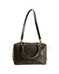 Rebecca Minkoff - Gray Grey Croc Embossed Mab Mini Bag with Strap - Lyst
