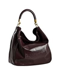 Saint Laurent | Purple Eggplant Patent Calfskin Roady Hobo | Lyst
