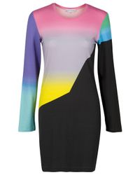 Jonathan Saunders - Multicolor Rainbow Ombre Dress - Lyst
