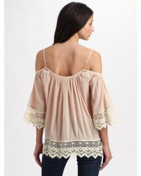Love Sam | Pink Open-shoulder Top | Lyst