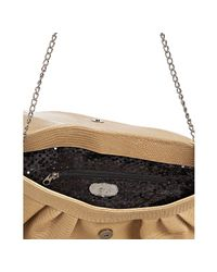 Terez | Natural Nude Croc Embossed Leather Mediano Convertible Clutch | Lyst