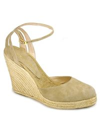 Andre Assous | Natural Muriel Suede Espadrille Wedges | Lyst
