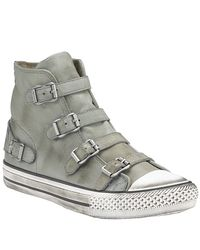 Ash | Gray Virgin - Buckle Sneaker in Cargo Leather | Lyst