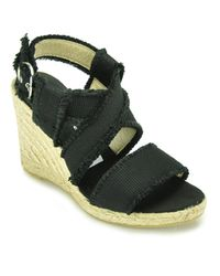 Bettye Muller | Sage - Black Frayed Canvas Natural Espadrille | Lyst