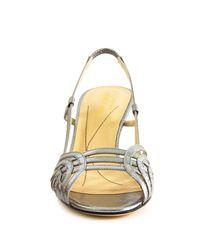 kate spade new york | Mode - Pewter Leather Metallic Sandal | Lyst