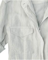 Rag & Bone - Gray Worn-look Leather Jacket - Lyst